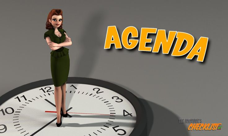The Animator´s Checklist | AGENDA or How to organize your time?
