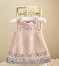 Luv U Forever Pinafore Dress - P090 Knitting pattern by OGE Knitwear Designs