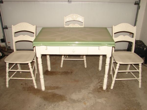 Vintage 193039s porcelain kitchen table with two leafs and for 1930 kitchen table