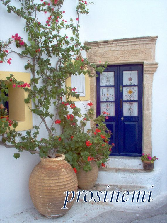 Photo of a blue white picturesque  door at  Kythira by prosinemi, €20.00