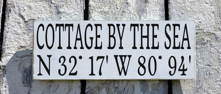 Custom Beach House Wooden Sign, Beach House Name Signs, Latitude Longitude GPS Map Location Beach Decor Personalized Beach Sign Wood Plaque Cottage By Sea Lake River More