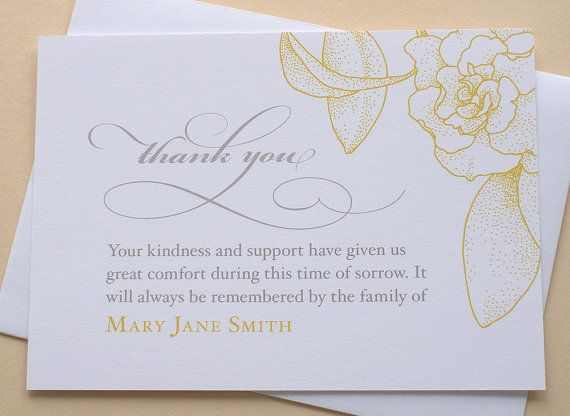 The 25+ best Sympathy thank you notes ideas on Pinterest - funeral thank you note