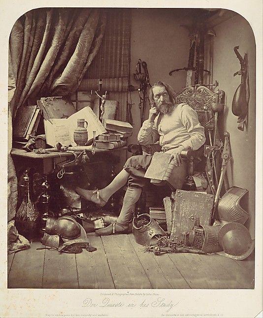 Don Quixote in His Study  William Lake Price  (English, 1810–1896)