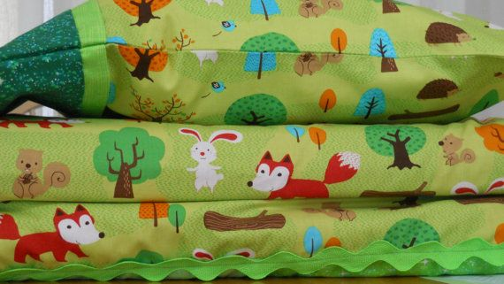 Kinder Mat cover set  Robert Kaufman Forest by CoconutsCosyCovers, $65.00
