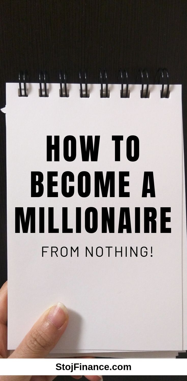 How To Become A Millionaire From Nothing Become A Millionaire Investing Money Money Management