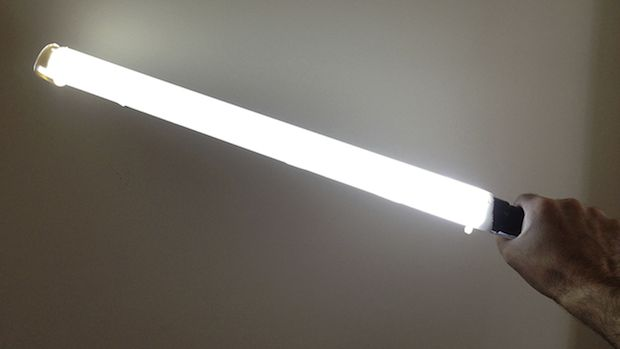 Make a Cheap DIY Ice Light Using an LED Flashlight and Some PVC Pipe