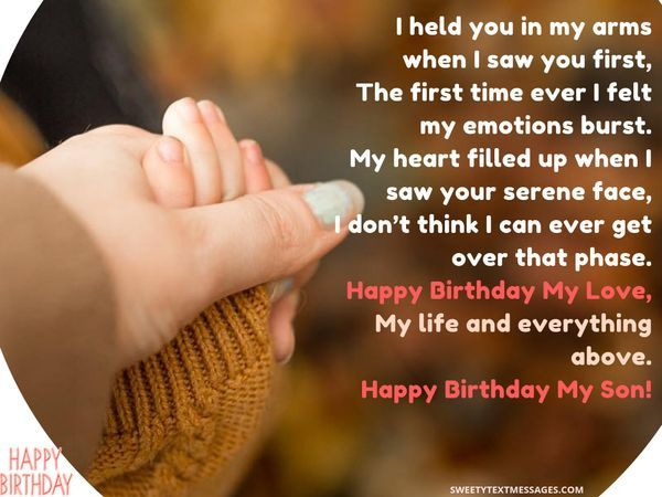 Happy Birthday Son Quotes Wishes For Son On His Bday In 2020 Happy Birthday Son Birthday Wishes For Son Son Quotes From Mom