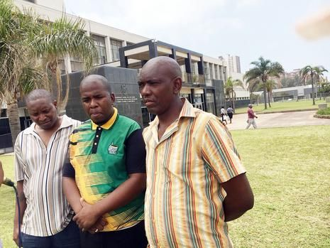Durban - Thandaza Mankayi, the father of one of the two boys allegedly murdered by his ex-girlfriend, rushed from the scene where his son's decomposed body was found on Monday to the Durban Magistrate's Court to confront her.