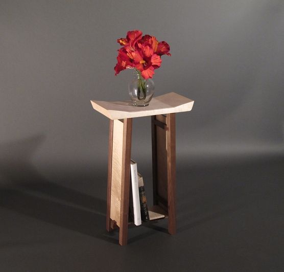 narrow bed side table nightstand handmade by