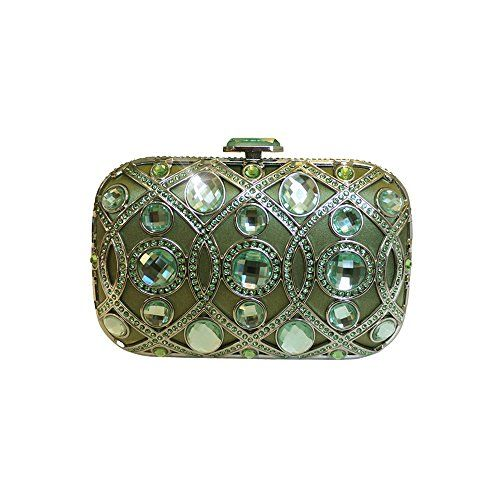 586a5a60bb ANNA Cecere Italian Designed Lustrino Jewel Clutch Evening Cocktail ...
