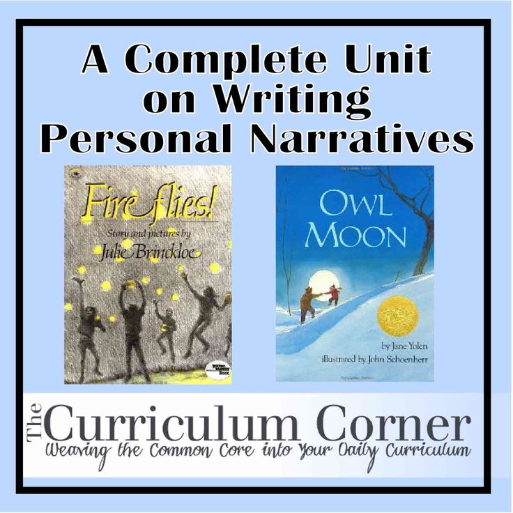 A WHOLE unit on writing personal narratives in the elementary classroom!  The lessons even include suggested mentor texts.  The best part...it is all FREE!  This will be a wonderful addition to my writing workshop.