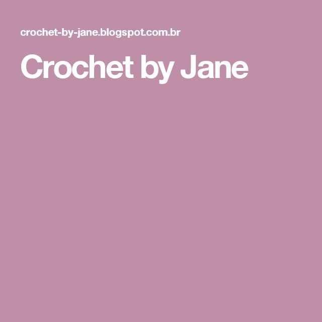 Crochet by Jane
