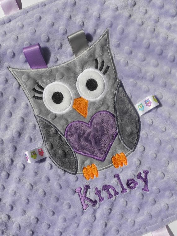 Personalized Baby Blanket Baby Girl Owl by TheCherryCheetahs, $22.99