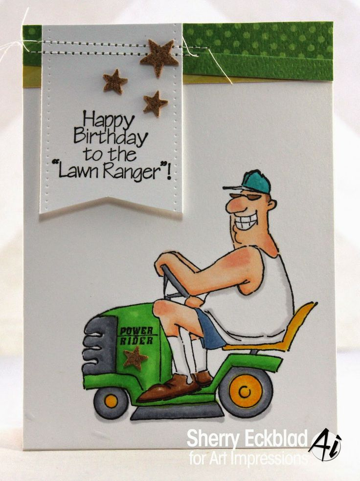 Art Impressions Rubber Stamps: The Lawn Ranger ~ by Sherry Eckblad
