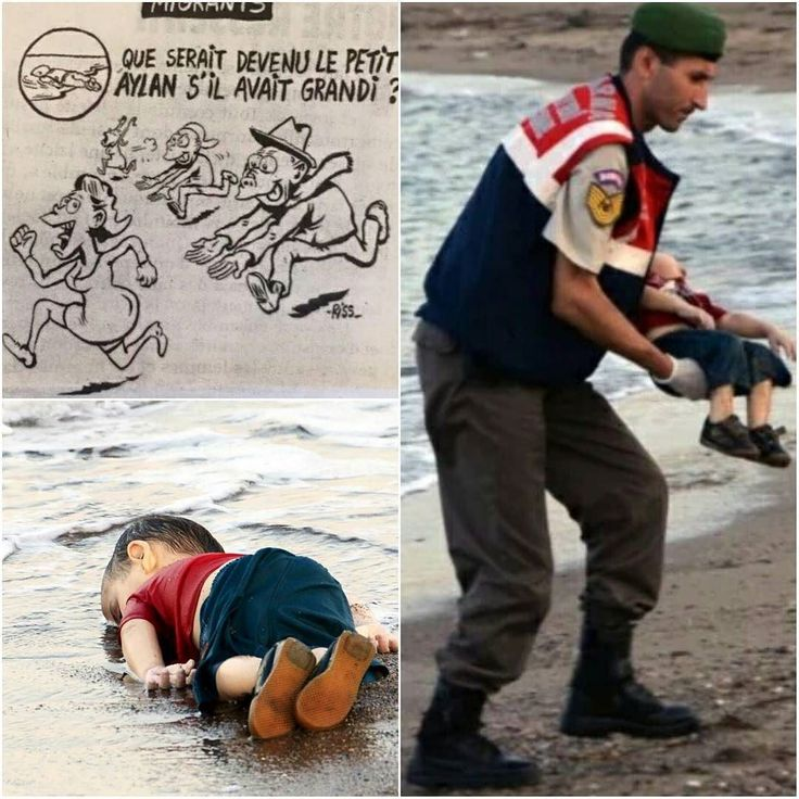 Making fun of a dead child!!! Charlie Hebdo you disgust me  #ImNotCharlieHebdo #charliehebdo #disgusting #racist #racial #gross #sad #hate #stupid #sick #hateful #racism #syria #children #alankurdi #aylankurdi #child #wtf #omg #crazy