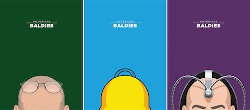 famous bald men
