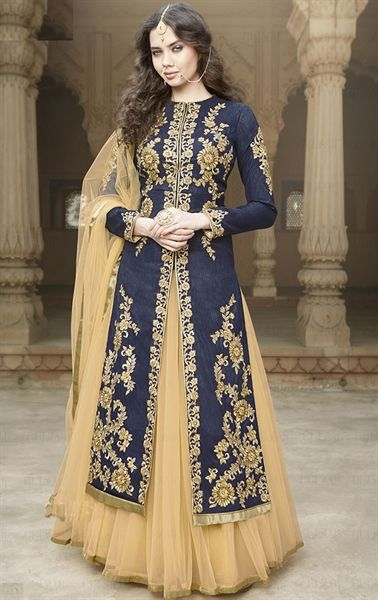 Picture of Bewitching Blue Designer Lehenga Kameez Set