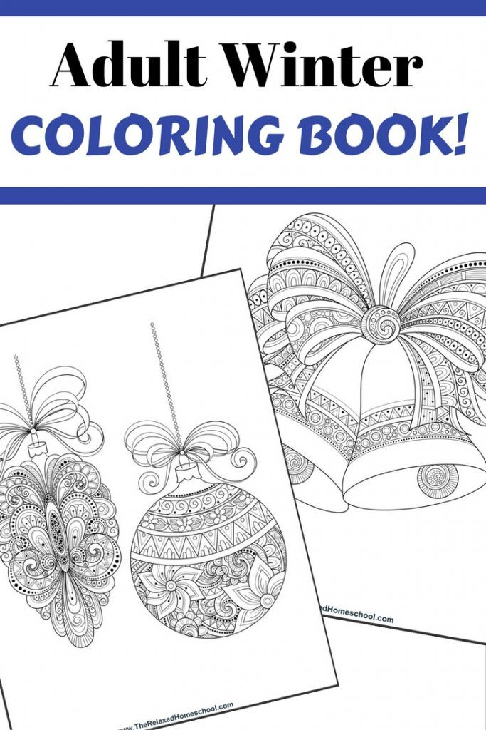 Popular Printable Coloring Pages For Older Kids 55 FREE Adult Winter Coloring