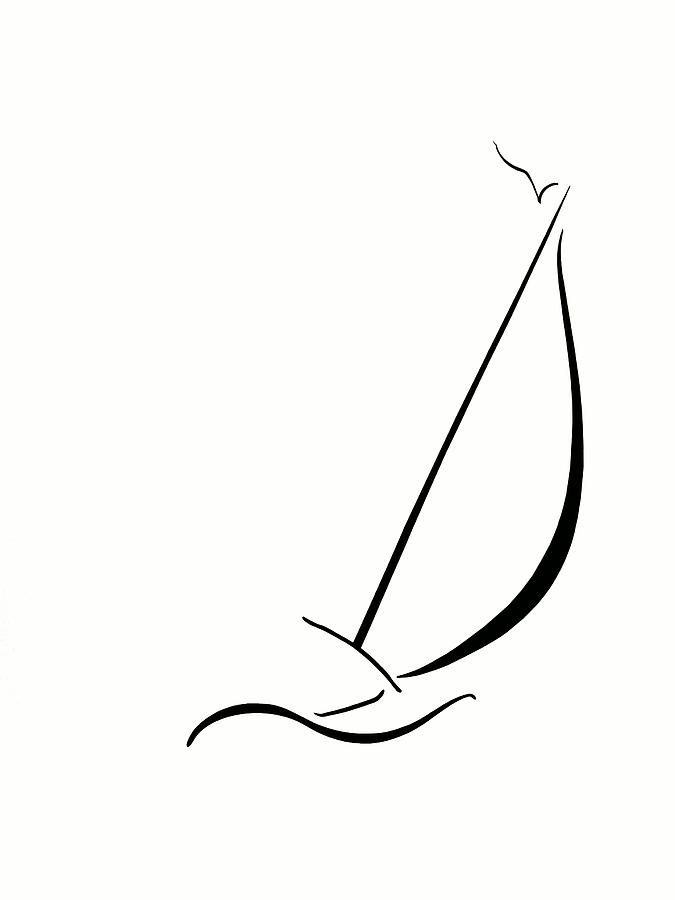 Line Art Boat : Best images about sailboat line art on pinterest