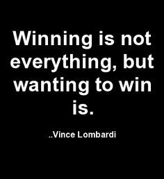 The wanting to win.