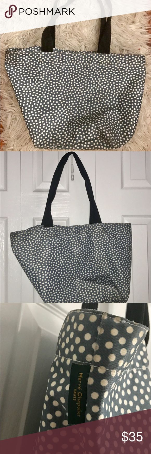 Blue and white polka dot tote bag Double strap blue and white polka dot tote bag. In good condition. Bags Totes