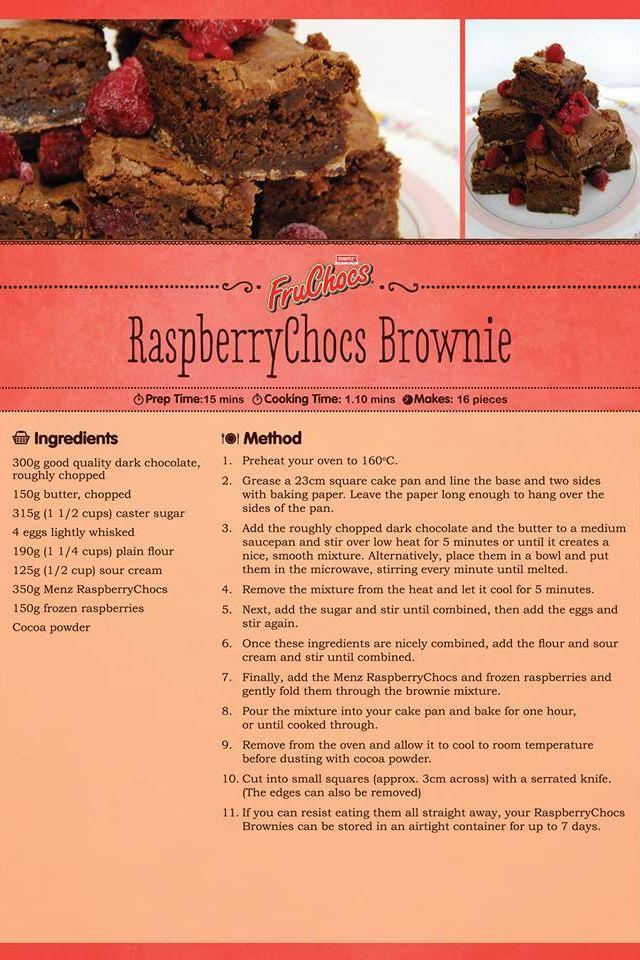 Raspberry Choc Brownie