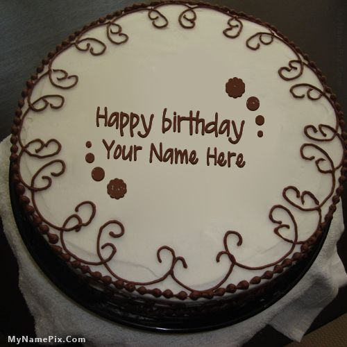 Online write your name on best Border Chocolate Cake ...
