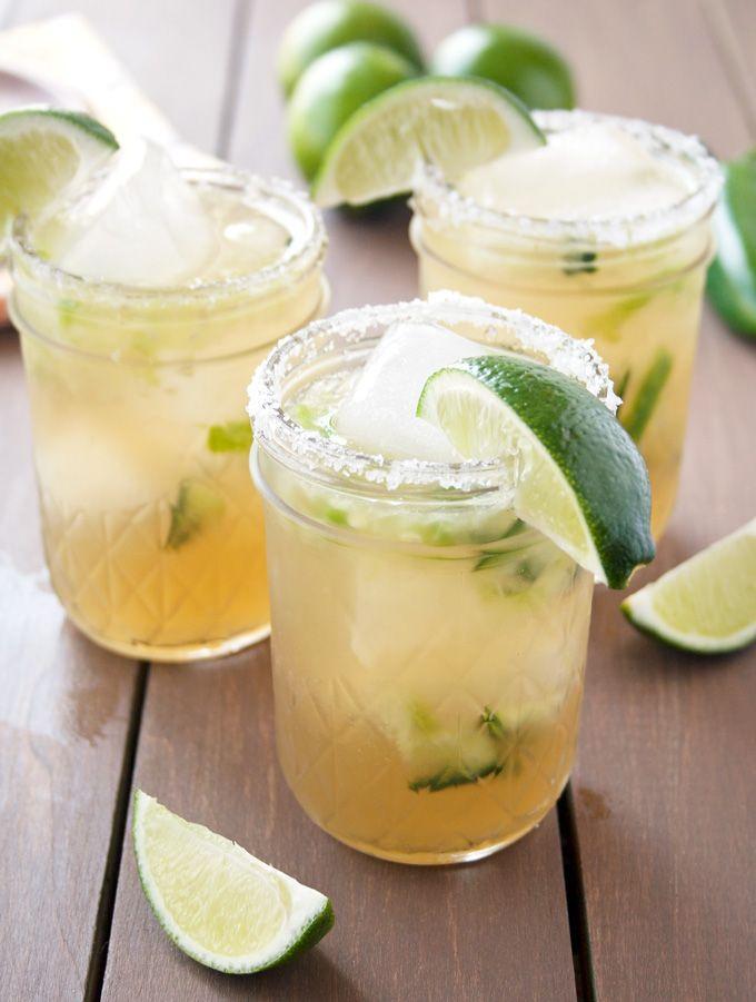 Cucumber Jalapeno Margaritas | A Happy Food Dance