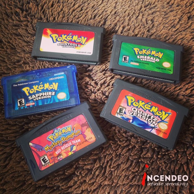 Pokemon Games for Nintendo Game Boy Advance. #pokemon #game #play #fun #nintendo #gameboy #gba #shinnygold #emerald #sapphire #quartz #mysterydungeon #redrescueteam #retro #museum #collection #collectibles #incendeo #infiniteserendipity #游戏机 #寵物小精靈