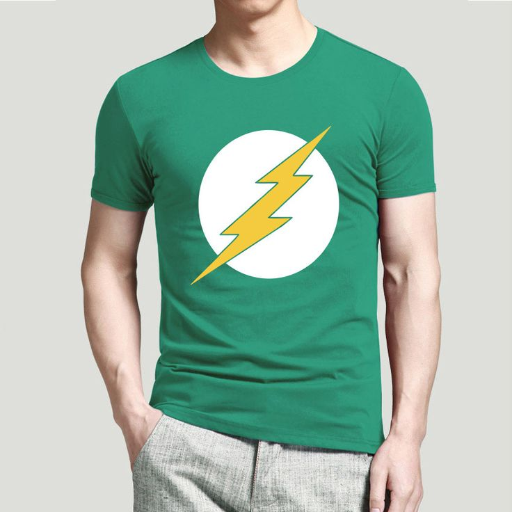 New Arrival The Big Bang Theory The Flash Men T Shirt Design Personalized Male Casual Tee Shirts Top Cotton t-shirts Sale