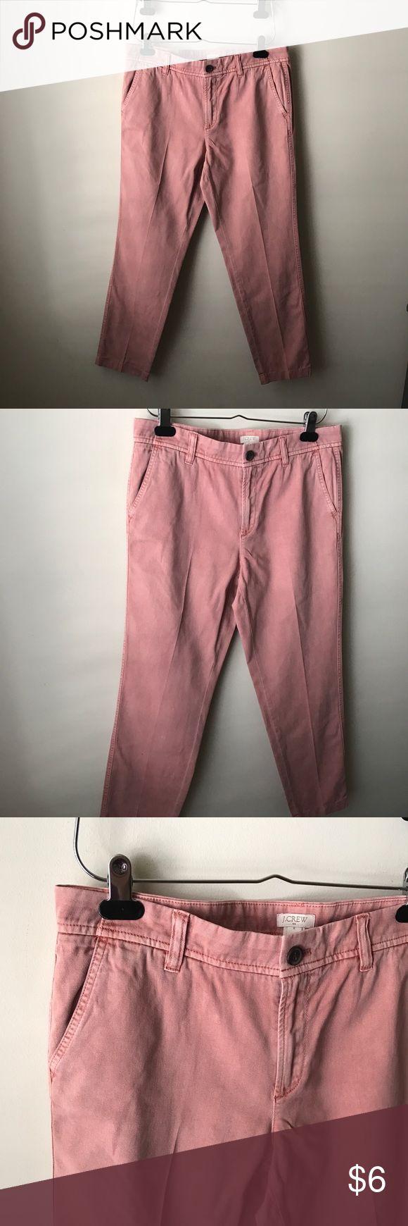 "J. Crew Factory blush pink pants Blush pink pants - button/zip fly closure - pockets - cotton - waist across measures 16.5"" - front rise measures 9.5"" - inseam measures 27"" - size 6 J. Crew Factory Pants"