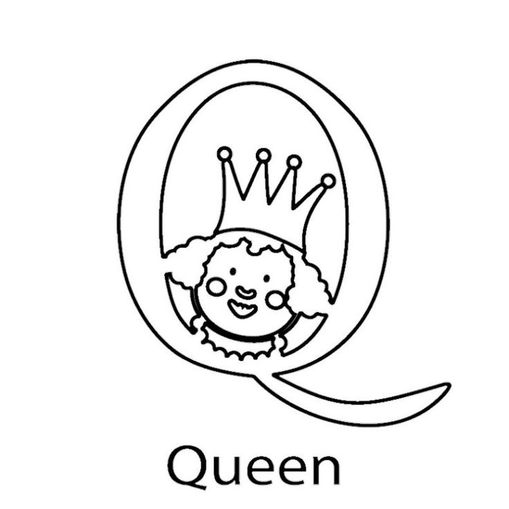 For Queen Colori...Q Is For Queen Coloring Pages
