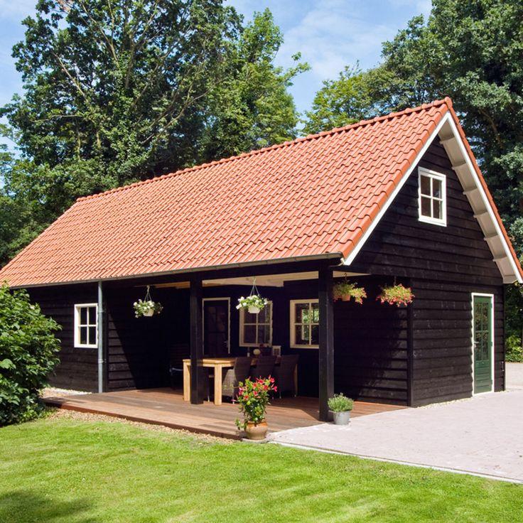 Dubbelwandig, binnenzijde beton, buitenzijde afgewerkt met Zweedse potdekseldelen