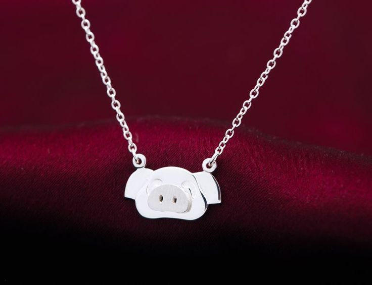 Lovely small pig 925 sterling silver necklace,a perfect gift – DanielMonogramDesign