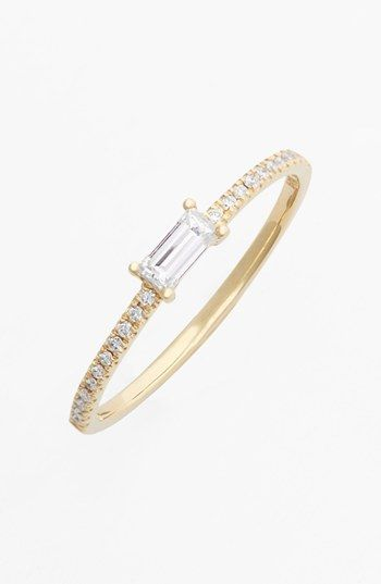 Bony Levy Baguette Diamond Stack Ring (Nordstrom Exclusive) available at #Nordstrom