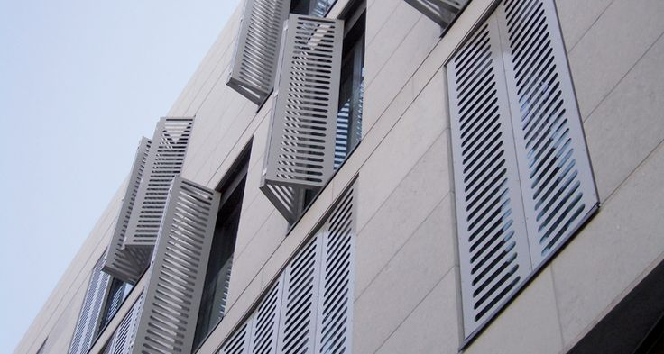 Hunter Douglas Contract at Apartments D'Haenens, Custom Folding Shutters