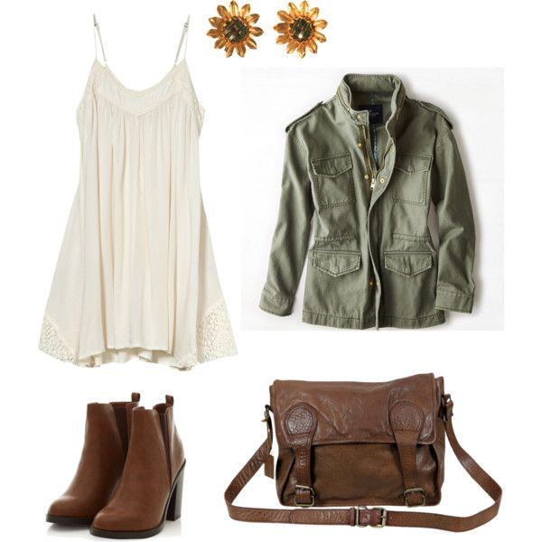 A fashion look from January 2015 featuring Billabong dresses, American Eagle Outfitters jackets and VIPARO messenger bags. Browse and shop related looks.