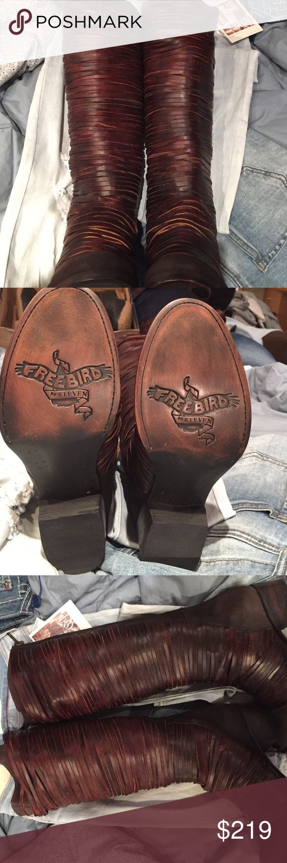 Flash Sale Freebird by Steve Logan boot NWT 9 Slight imperfection that if you bring to a shoe maker they can fix it.. I am modeling them to show you that it doesn't take away from the boot at all. This boot may go over 5lbs limit . Please ask me so I can get the correct postage freebird by Steve  Shoes Over the Knee Boots