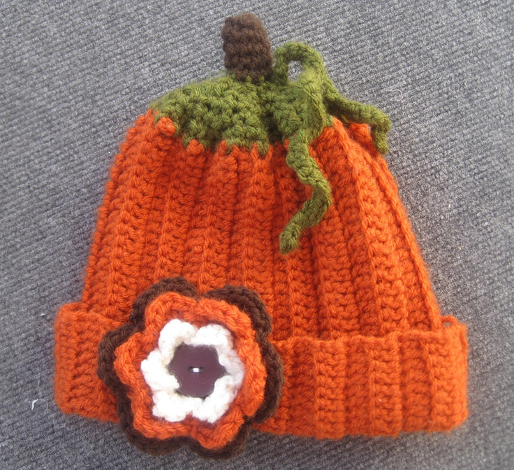 Handmade Crochet Pumpkin Hat - perfect for infants, kids and adults!      http://www.etsy.com/shop/BumbleBeedsBowtique