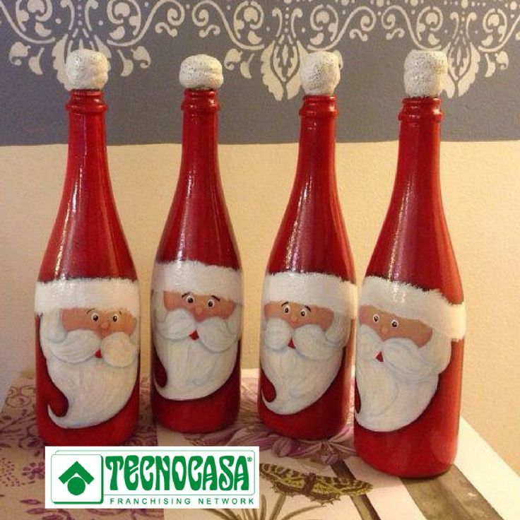 M s de 25 ideas incre bles sobre botellas decoradas para for Botellas de vidrio decoradas para navidad