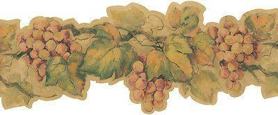 Villa Tuscana Grape Wallpaper Border - 20B57562B