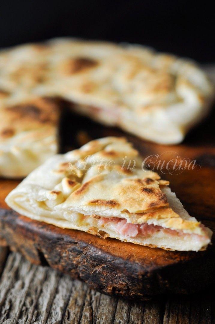 Schiacciata con prosciutto e mozzarella veloce vickyart arte in cucina