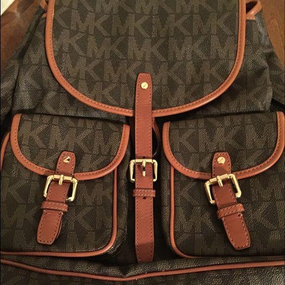 Michael Kors Jet Set Signature Large Backpack Authentic Michael Kors Signature Back Pack NWOT comes from smoke free, pet free home Michael Kors Bags Backpacks