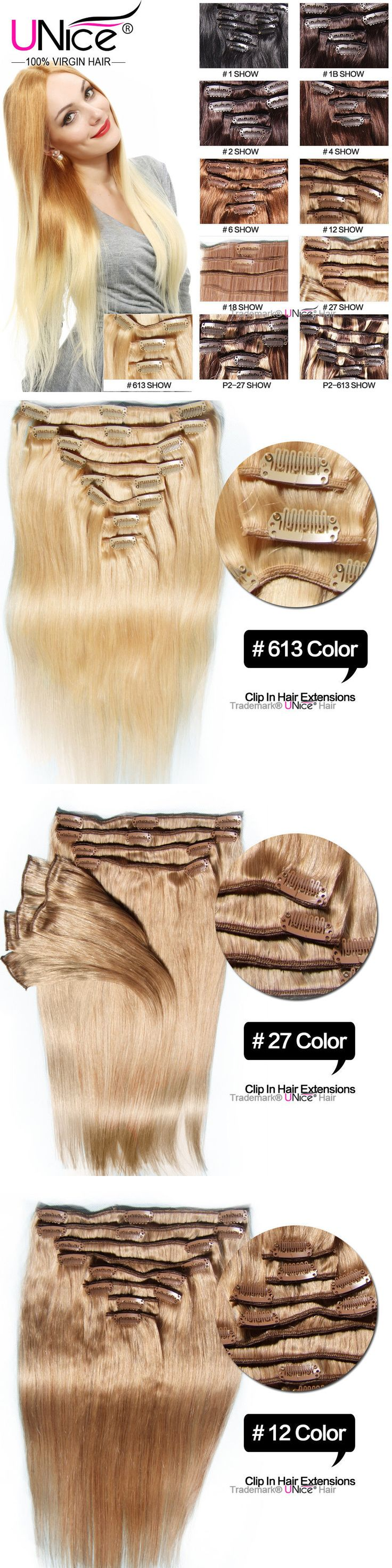 The 25 best ebay hair extensions ideas on pinterest extensions hair extensions 8 pcs set brazilian virgin hair straight full head clip in human hair pmusecretfo Images