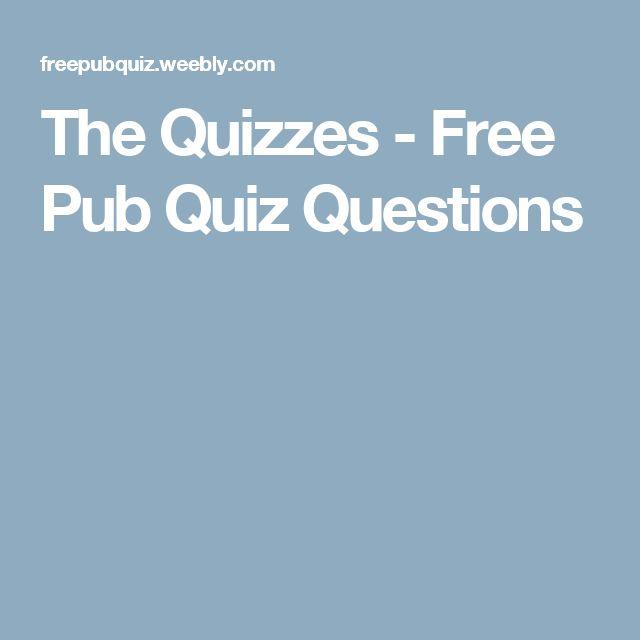The Quizzes - Free Pub Quiz Questions