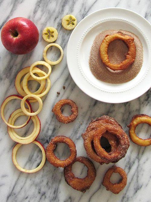 Fried Cinnamon Apple Rings | fortune goodies
