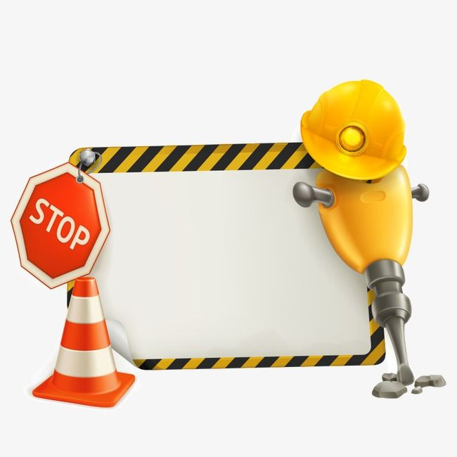 Warning Signs And Jackhammer Warning Sign Jackhammer Warning Png Transparent Clipart Image And Psd File For Free Download Warning Signs Clip Art Clipart Images