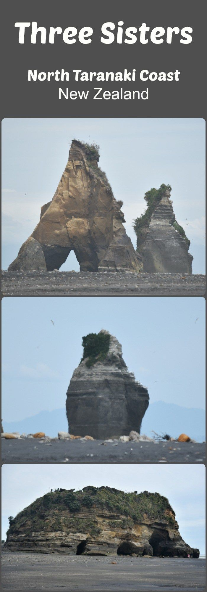 The Three Sisters and Elephant Rock visit happened as an unplanned detour following our long weekend in New Plymouth. We learned early on that you should always stop for green...