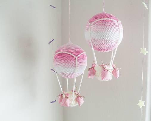 BeasArt / háčkovaný balón ružový.