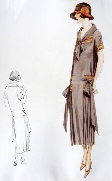Patrón para coser de los años 20. Cuello por ContrapuntPatterns
